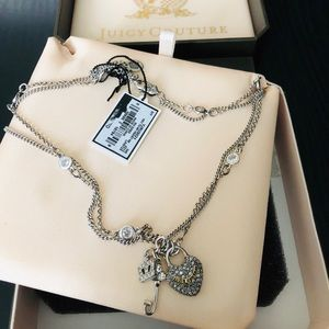 Brand new Juicy Couture double chain necklace